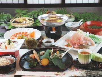 四季折々の旬の味を楽しむ【しらかば膳】と源泉かけ流し温泉で奥会津の旅を楽しもう。