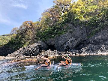 【クリアカヤック3時間コース】水中の世界を楽しもう♪透明なカヤックで水上散歩★<午後の部>特典付き