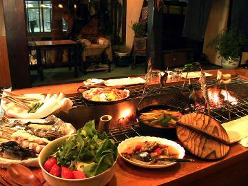 【炉端焼き】炭火焼きで頂く夕食グレードアッププラン[1泊2食付]《県民支えあい信州割SPECIAL対象宿》