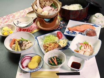 【1泊2食】女将特製 ボリューム満点な日替わりメニュー♪家庭的な郷土料理でほっこり♪基本プラン