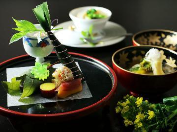 【福島牛 煤竹蒸し付き】月替わりの美食会席 小さな宿だからこそできる美食のおもてなし♪