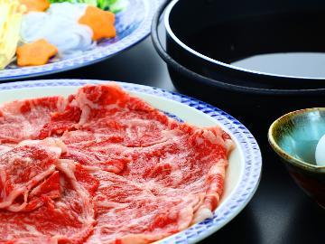 【スタンダード】食事グレードアップ『上州牛すき焼き・八種の温野菜・名物舞...