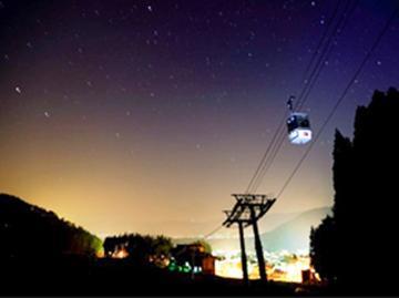 <ナイトゴンドラツアー> +゚澄んだ空気の中、満点の星空と出会う☆ 無料送迎バス徒歩2分!【2食付】