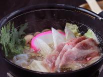 【冬季限定】あつあつ具だくさん鍋と馬刺し付きの田舎料理でぽっかぽか♪《福島県民割プラス割引対象》
