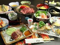 【グレードアップ】欲張り♪【和牛】の陶板焼き付き季節の会席料理