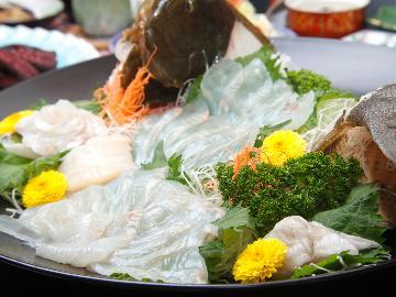 【旬魚姿造り×タコ丸茹】料理自慢とくがね会席[1泊2食付]