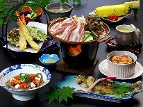 【スタンダード】奥利根もち豚の陶板焼き&片品産 まいたけを使った!手作り料理が並ぶ♪まごころ プラン