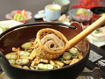 ■1泊2食付き とうじ蕎麦■奈川名物と天然温泉をフルに楽しむならコチラ!温かいお蕎麦『とうじ蕎麦』