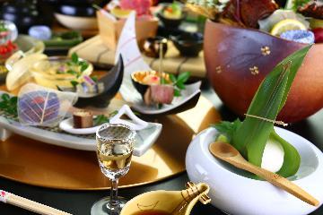 【人気NO.1 贅沢露天風呂付き離れプラン】贅沢で豪華なお食事と温泉をお楽しみください ≪2食付≫