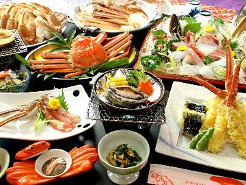 <GoToトラベルキャンペーン割引対象>~松コース×舟盛×あわび×和牛~【蟹と地魚舟盛り?さらに鮑まで?】こんなにたくさん食べ切れないっ!