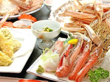 【一足早い蟹かに♪】人気の天ぷら、焼きガニも食べたい!夕日ヶ浦温泉と欲張り満腹カニプラン~竹take~