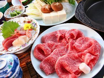 〔先着400名様限定〕おひとり様3,000円引き★【贅沢会席】厳選された国産牛を特製割下のすき焼きで贅沢に食す―…