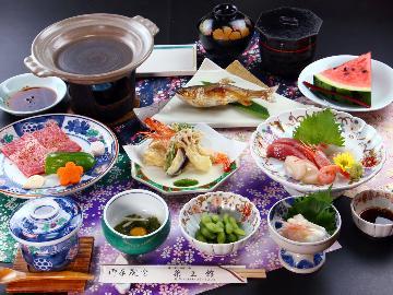 〔先着400名様限定〕おひとり様3,000円引き【福島牛の陶板焼き】人気の専用温泉付客室~離れ~で贅沢なひとときを。