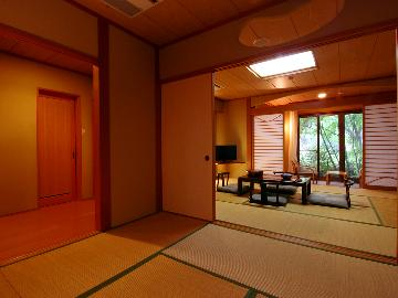 """◆離れ~特別室~◆【福島牛の陶板焼き】""""薬師の湯""""と和庭園を満喫するプレミアムステイ"""